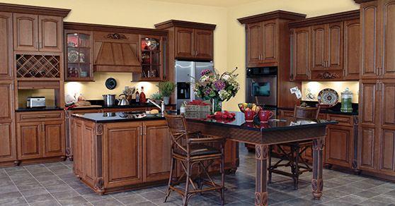 Langdon five piece Cherry Cinnamon Kitchen