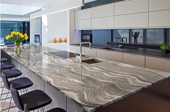 Roxwell Kitchen marble island