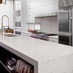 Modern white stone countertop