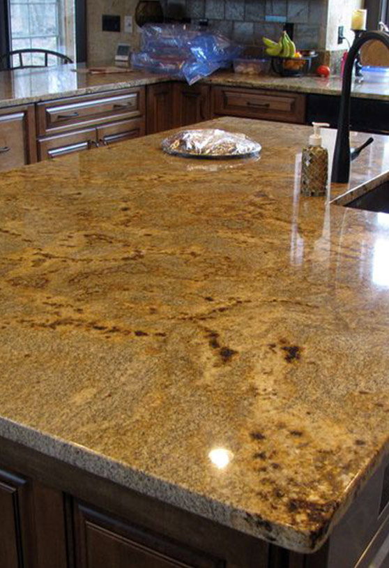 Gold marble counter top