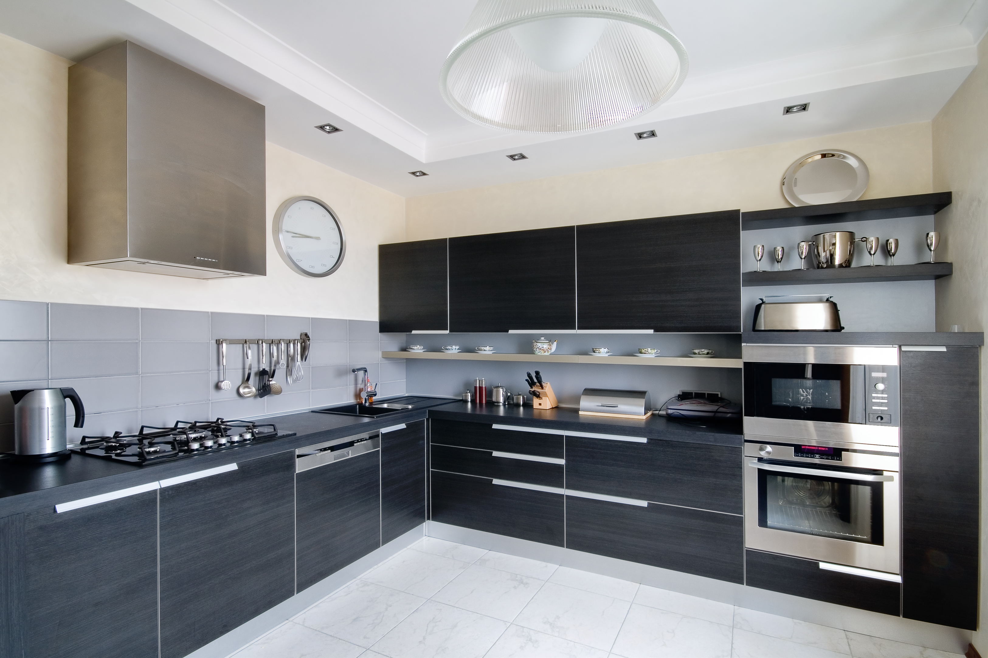 Interior of modern kitchen in a private house