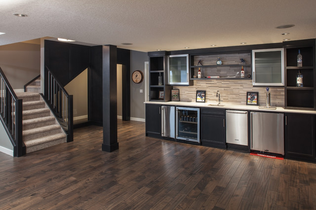 dark finish basement
