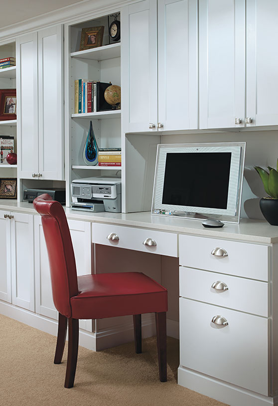 Office cabinets with red chair