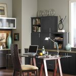 Dark charcoal office cabinets
